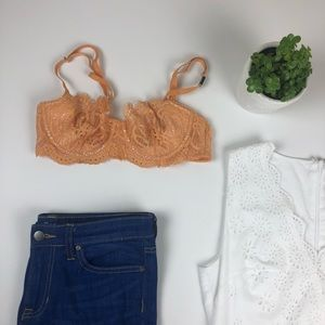 Victoria Secret Dream Angels Orange Lace Bra